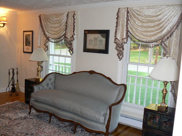 Valances - Traditional - Living Room - San Diego - by Sew Bella Home - valances for living room
