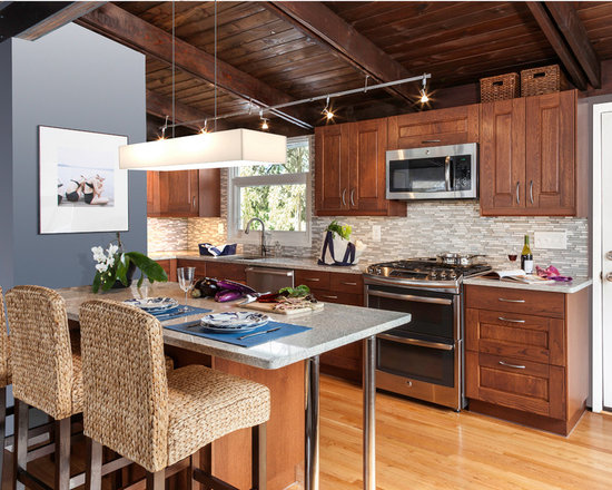 sink undermount small midcentury shaped kitchen design photos type kitchen dining
