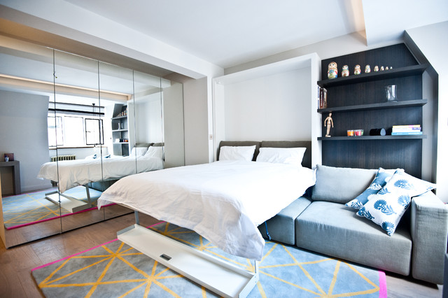 City Studio Apartment - Contemporary - Bedroom - London - By Black