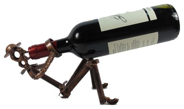 Wine Bottle Holder Don Quixote Drinking Handcrafted