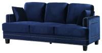 1st Avenue - Ferrara Velvet Sofa, Gray & Reviews | Houzz