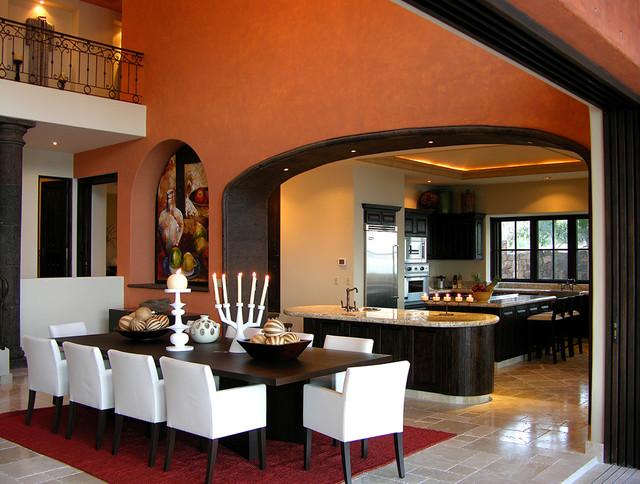VILLA ALEXA EL DORADO - Mediterranean - Dining Room - Mexico City - el dorado living room sets