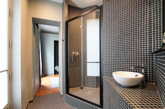 Appartement Haussmannien - Contemporain - Salle de Bain - Paris