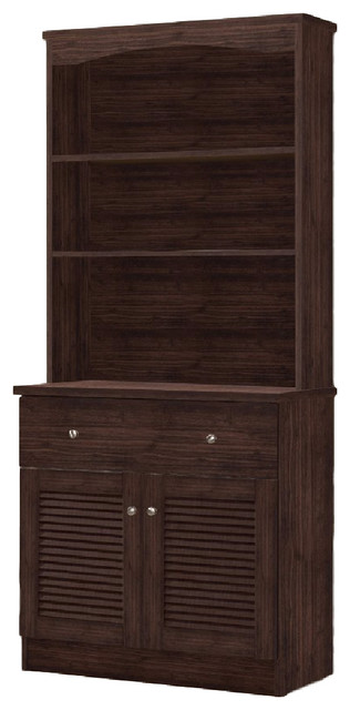 Dark Walnut Distressed Kitchen Cabinet Images Agni Modern And Contemporary Dark Brown Buffet And Hutch