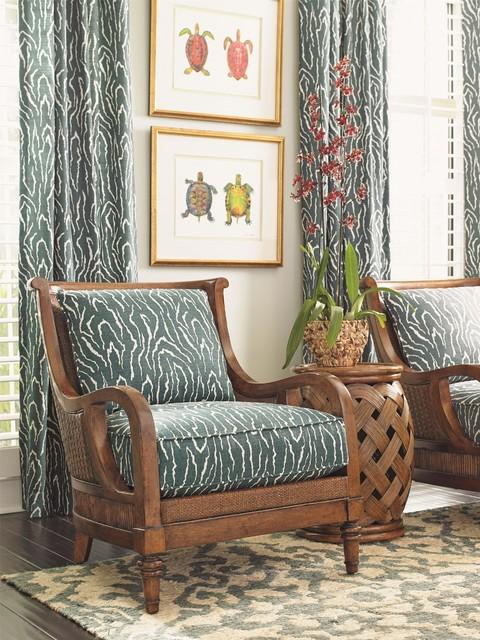 Tommy Bahama Home Bali Hai Island Paradise Chair - Tropical - tropical living room furniture