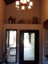 Decorating Ledge Above Entry