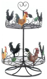 Accent Plus Rooster 2 Tier Countertop Rack - Fruit Bowls ...