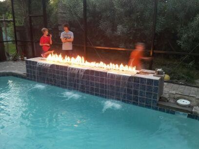 Fire Features Contemporary Pool Tampa By Landscape