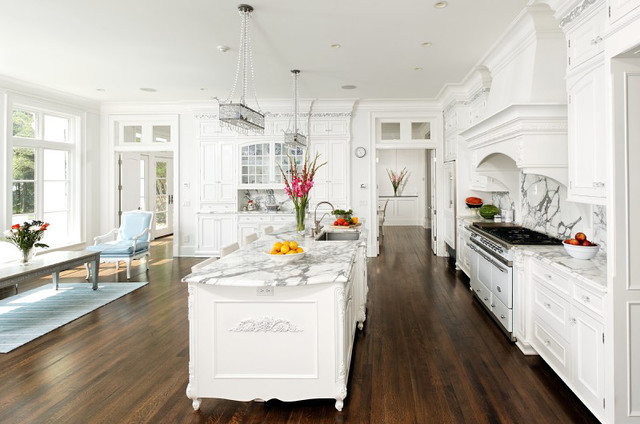 French Vanilla - Traditional - Kitchen - DC Metro - by Bradford - french kitchen design