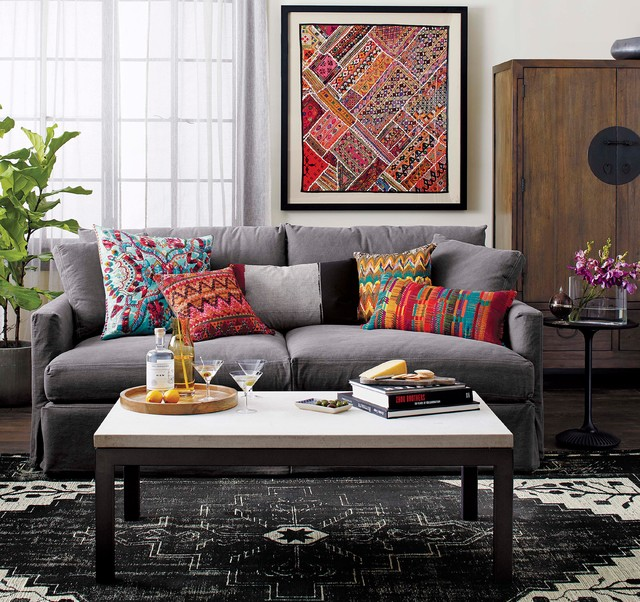 Crate and Barrel Living - Contemporary - Living Room - Chicago - crate and barrel living room