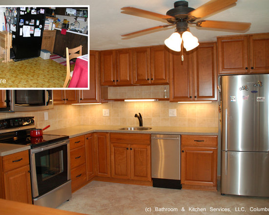 mid sized transitional shaped eat kitchen design photos inspiration small transitional shaped kitchen remodel