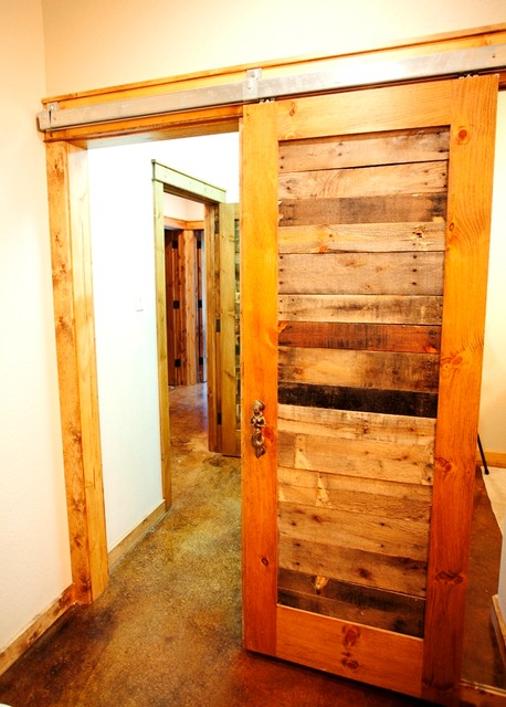 Lowes Bathroom Vanities Lights Reclaimed Pallet Wood Doors - Rustic - Hall - Dallas - By