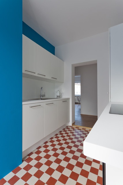 Houzz Kücheninsel Flur, Frankfurter Bad Reloaded - Modern - Küche