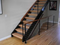 NW steel, cable & wood - Contemporary - Staircase ...