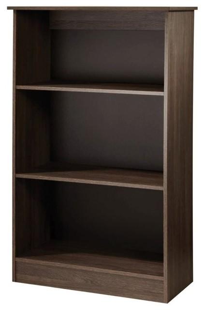 Contrast High Gloss Bookcase 2 Shelves Modern