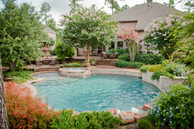 Poollandschaft Garten Mirror Lake Designs - Pools - Traditional - Pool - Houston