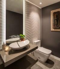 Contemporary Hillside Home - Contemporary - Powder Room ...