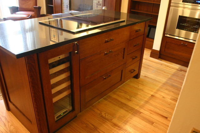 Kitchen Island With Cooktop For Sale Wine Cooler, Induction Cooktop And Custom Island