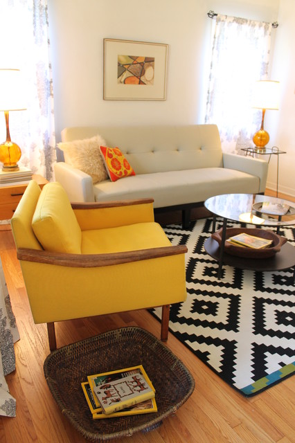 Mid Century Modern Living Room - Small Bungalow - Midcentury - mid century modern living room