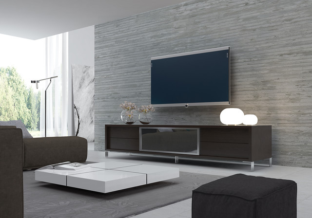 Contemporary Living Room - living room tv