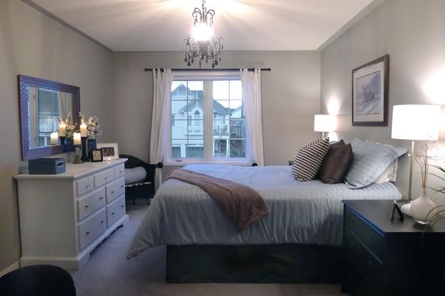 Contemporary Grey Bedroom - Contemporary - Bedroom - Toronto - By