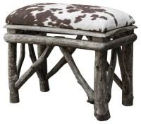 cow print bench