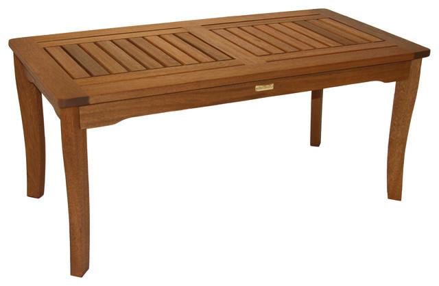 Eucalyptus Coffee Table Traditional Outdoor Coffee