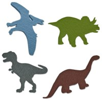Felt Dinosaur Decals, Set