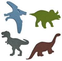 Felt Dinosaur Decals, Set - Contemporary - Wall Decals ...