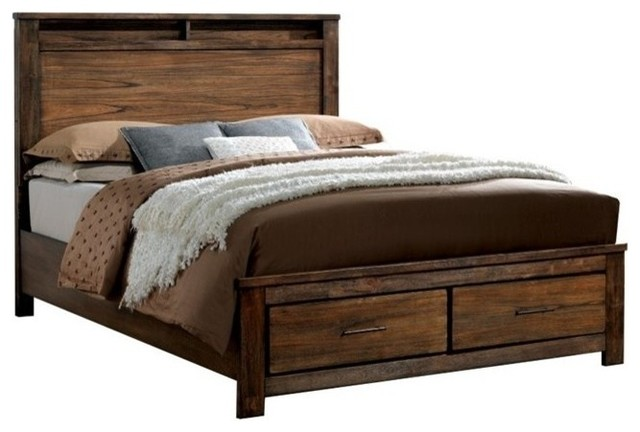 Furniture Of America Elkton Platform Panel Storage Bed