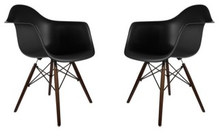 Poly And Bark Vortex Arm Chair Set Of 2 Midcentury