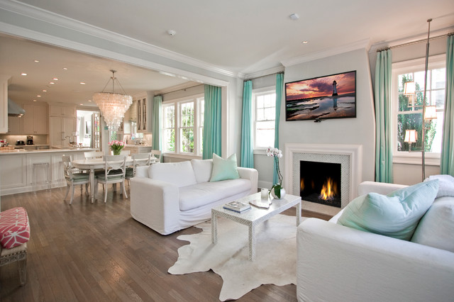 North Palm Beach Style Living - Beach Style - Living Room - Little - beach style living room