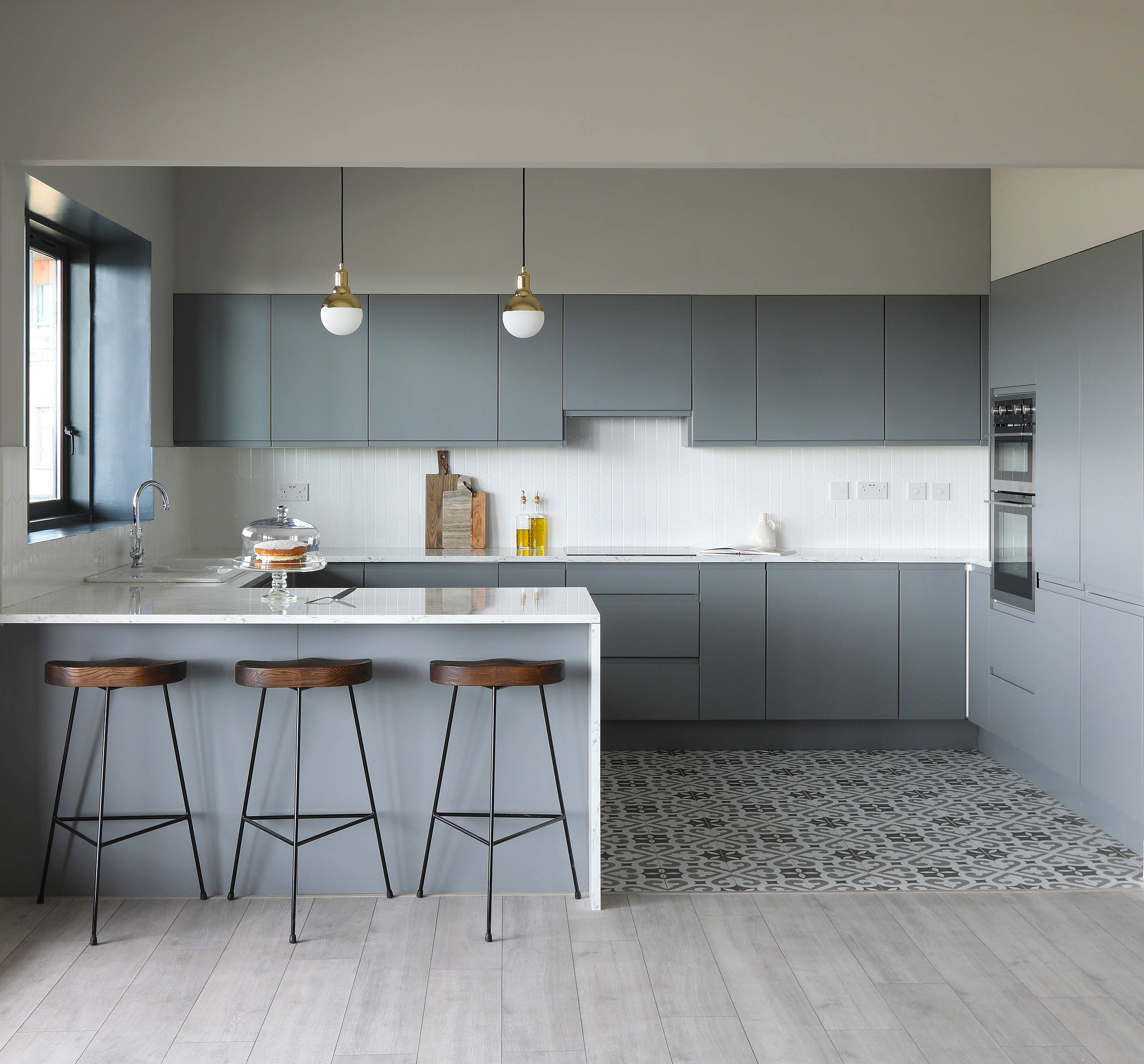 Nolte Küchen Fliesenspiegel 75 Beautiful Gray Cement Tile Floor Kitchen Pictures Ideas