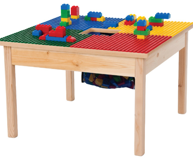 Wooden Lego Table With Chairs Modern Coffee Tables And