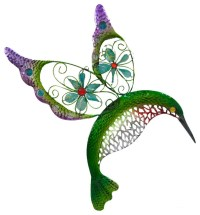 Acrylic and Metal Hummingbird Wall Plaque
