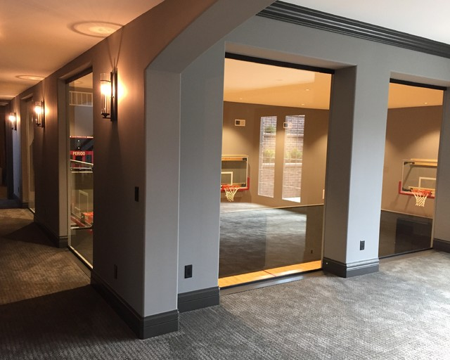 Home Builders Indianapolis Indoor Basketball Court - Transitional - Basement