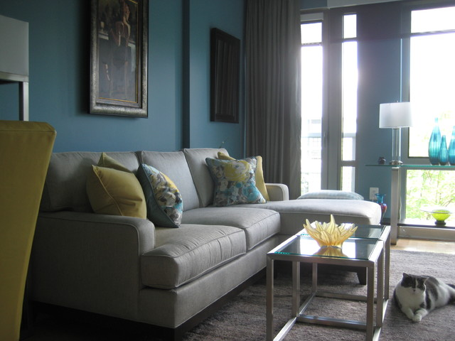 Turquoise and yellow living room - grey and turquoise living room
