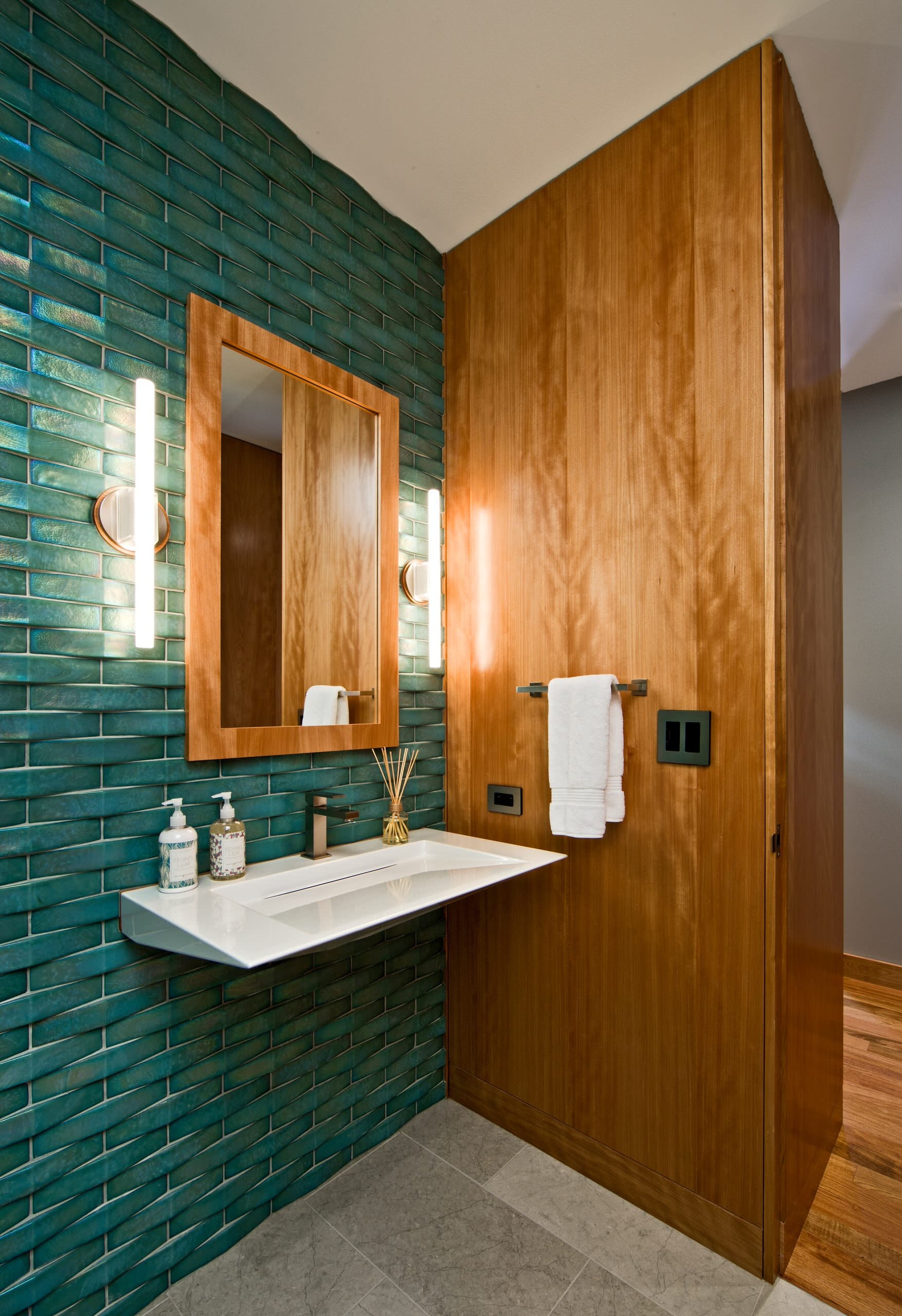 Waterfall Effect With Tiles On Wall Houzz