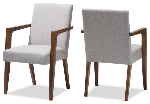 Andrea Mid Century Modern Dark Gray Upholstered Wooden