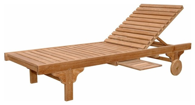 Capri Sun Lounger Adjusted Back Side Tray Outdoor