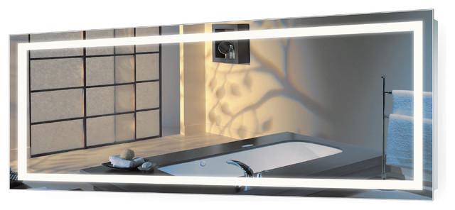 Large LED Lighted 72 - designer bathroom mirrors