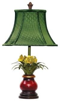 Sterling Industries Flowers In Ruby Vase Tropical Table