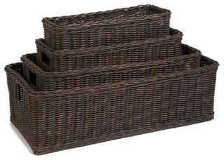 Long Low Wicker Basket Baskets By The Basket Lady