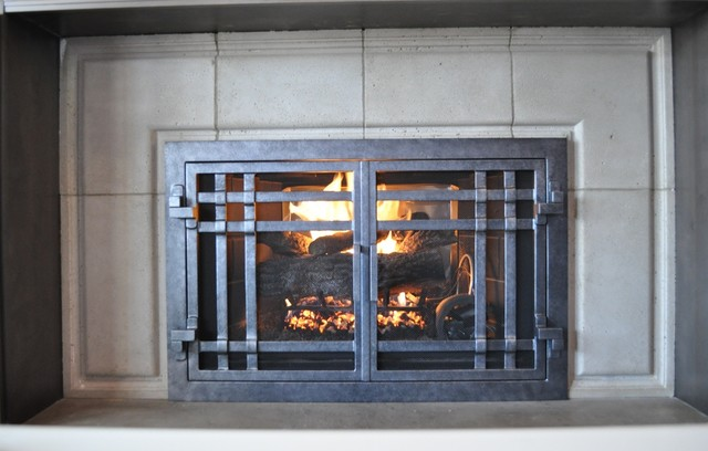 Ams Fireplace Doors Remodel Ideas Contemporary Living