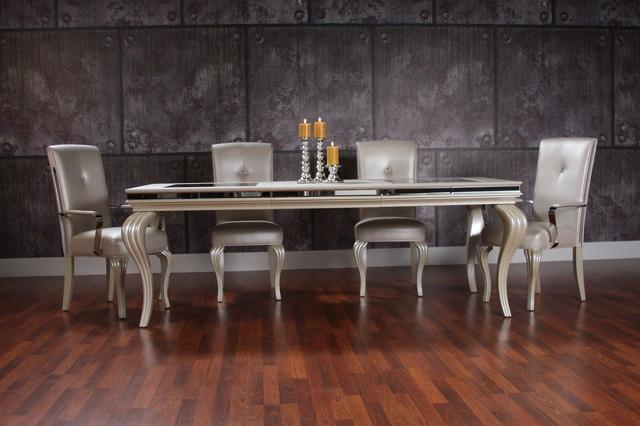 Hollywood Swank Dining Set - Transitional - Dining Room - Miami - el dorado living room sets
