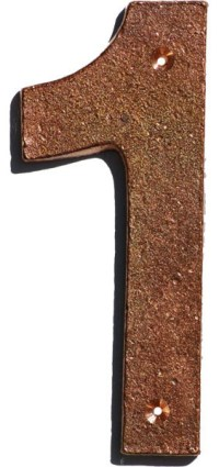 Arts and Crafts House Number, Tumbled Copper, #1 - Arts ...
