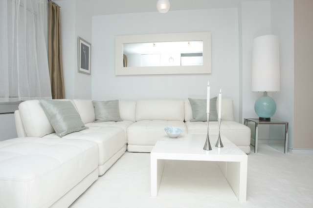 White Modern Design - Contemporary - Living Room - New York - by - living room furniture nyc