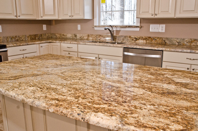 Yellow River Granite Bathrooms Traditional Kitchen