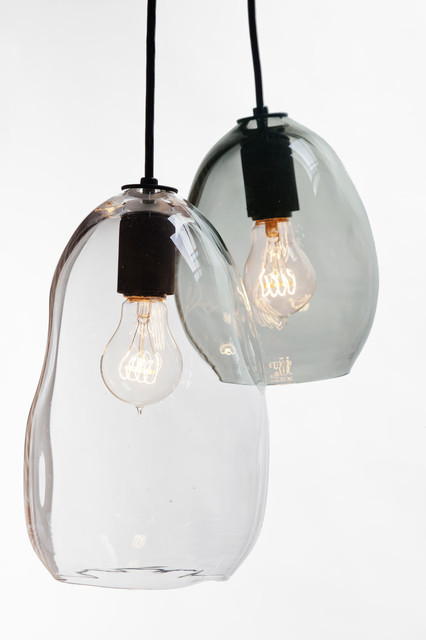 Blown Glass Pendant Lights Hand Blown Bubble Glass Pendant Light