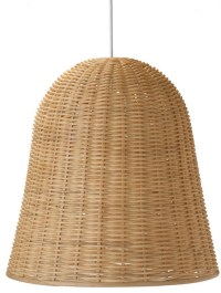 Wicker Bell Pendant Lamp, Natural - Tropical - Pendant ...
